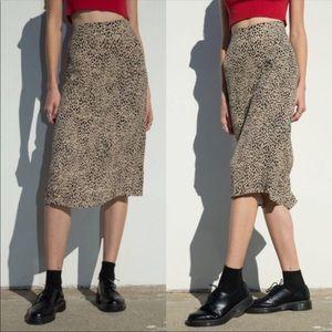 Brandy Melville Cheetah Midi Skirt